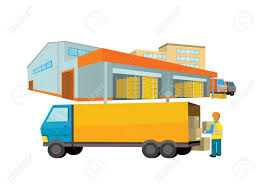 Equipment Delivery Process Of The Warehouse Interior Logisti And Factory Building