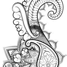 Sophisticated Adult Coloring Page