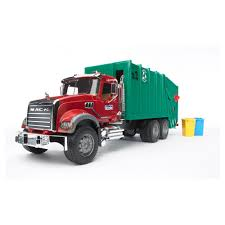Bruder Toys Mack Granite Garbage Truck (Ruby Red Green) From $102.98 ...