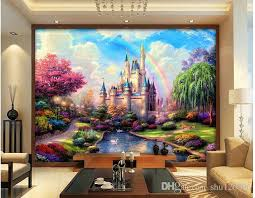 3d Room Wallpaper Custom Photo Mural Fairy Tale Castle Scenery Background Decor Painting Wall Murals Paper For Walls 3 D Living High