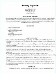 Entry Level Bank Teller Resume Luxury 50 Greatest Photos Sample
