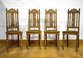Antique Vintage Set Of 4 Carved Oak High Back Spiral Barley Twist Dining  Chairs High Back Antique Oak Morris Recling Chair Claw Feet Oak Framed Throne Chair Danish Homestore Wheat Ding Chairs Star Wars Bean Bag Costway With Cross Set Of 2 Solid Wooden Frame Style Side For Kitchen Rooms Rattan Seat A Pair 19th Century Hall In The Jacobean Charles Ii Single C1680 B3771 La41504 Vintage Rocker Press Cane Baby Empoto Childs Rush Coaching Settle Carved Renaissance Throne Victorian And