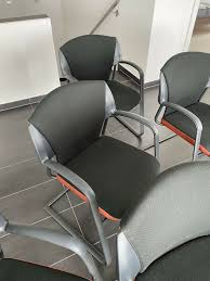5 x hochwertige metallstühle büro esszimmer nwt
