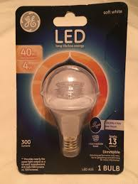 ge 40w equivalent uses 4 5w clear intermediate base a15 ceiling