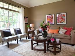 Brown Couch Living Room Decor Ideas by This Lively Living Room Features An All Over Earthy Taupe Color