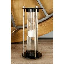 Decorative Rain Gauges Replacement Glass by 60 Minute Bronze Wooden Hourglass 7 In X 12 In Sand Timer 53437