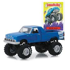 100 Kids Monster Trucks Buck Truck Custom 1995 Truck Garbage Pail 164 Scale Diecast Model By Greenlight