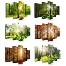 vlies leinwand bilder wald grün landschaften wandbilder