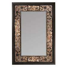 Deco Mirror 26 In. X 37 In. French Tile Rectangle Mirror In Dark ... Superior Haing Bathroom Mirror Modern Mirrors Wood Framed Small Contemporary Standard For Bathrooms Qs Supplies High Quality Simple Low Price Good Design Mm Designer Spotlight Organic White 4600 Inexpensive Spectacular Ikea Home With Lights Creative Decoration For In India Ideas William Page Eclipse Delux Round Led Print Decor Art Frames