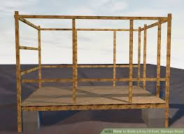 how to build a 8 by 10 feet storage shed 14 steps