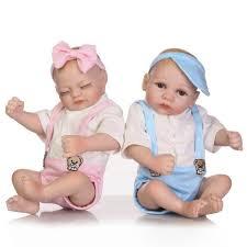 Twins Sacco A Pelo Bambole Reborn Mini Cute Hand Doll Handmade