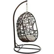 Searsca Patio Swing by Henryka Cw4307hc Hanging Chair With Cushion And Stand Lowe U0027s