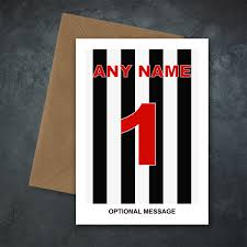 Details About Personalised Football Card Fathers Day Birthday Dad Boy Son Newcastle United