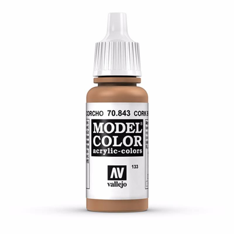 Vallejo Model Color - 70843 Cork Brown, 17ml
