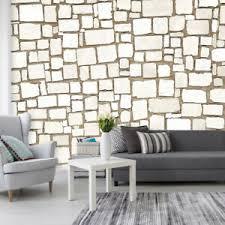 details zu vlies fototapete stein effekt optik steinwand tapete wandbilder wohnzimmer 4