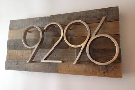 Amazon Reclaimed Wood Address Plaque