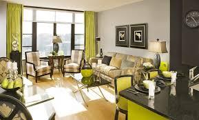 farbgestaltung wohn esszimmer in grün und schwarz freshouse