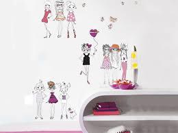 autocollant chambre fille sticker chambre fille sur mur blanc photo 17 20 pour une