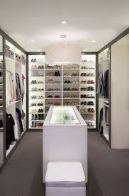 u shaped dressing room with hanger and rack system closet combine