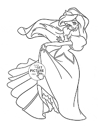 Ariel Princess Coloring Pages Dancing Page For Kids Disney Images