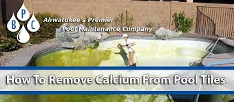 how to remove calcium from pool tiles fast bpc pool maintenance