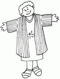 Joseph Son Of Jacob Coloring Pages With The Dreamer Throughout And Coat Many Colors Page