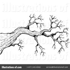 Royalty Free RF Tree Branch Clipart Illustration by visekart