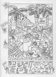 Hidden Pictures Publishing Fathers Day Picture Puzzle Coloring Page
