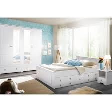 home affaire schlafzimmer set hugo set 4 tlg bett 180 cm 5 trg kleiderschrank und 2 nachttische