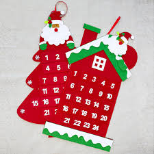 Christmas Advent Calendar Santa Claus Countdown Wall Door Hanging