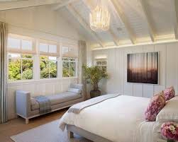 Country Light Wood Floor Bedroom Photo In San Francisco With White Walls