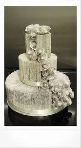 3 Tier Book Fold Wedding Cake By