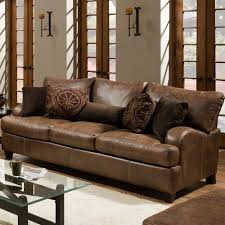 Buchannan Faux Leather Corner Sectional Sofa Chestnut by Sofa Faux Leather Centerfieldbar Com