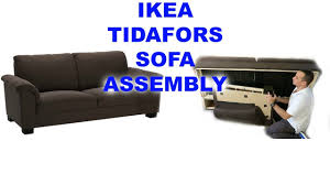 ikea tidafors three seat sofa assembly youtube