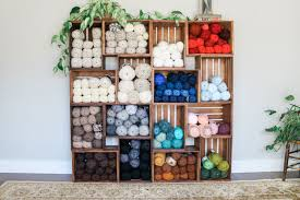 This Yarn Storage Changed My Life Use Wooden Crates To Build An Easy Shelf