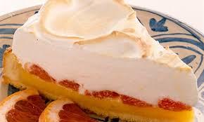 grapefruit kuchen mit baiser