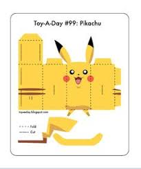 The Printable Pdf Pattern For Building Pokemon Paper Toy