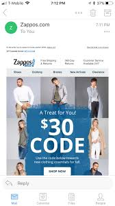 Zappos Sent Me A $30 Code To Use On Each Email I Used To Buy Things ... Part 3 Of Google Apps Coupon Code Experiment Project Management Cellphone Unlocker Coupon Code Last Minute Disney Cruise Deals Bird App Promo Couponsuck Coupons And Codes App Tmobile Magenta Gear Dont Let Your Dreams Samsung M10 Mobile Phone Cover Stayclassyin Tuesdays 82217 Tmobile Metro By Mondays Six Flags Over Texas Galaxy S8 64gb Metropcs Phones Smg950uzkatmk Us Atom Tickets Promo 5 Off Any Movie Ticket What Is The Honey Can It Really Save You Money How To Apply A Discount Or Access Order Eventbrite