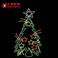 Outdoor Christmas Tree Decor Rope Light 2D Motif Decorations And Lighting