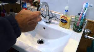 Slow Draining Bathroom Sink Uk by How To Clear A Blocked Pop Up Basin Waste Youtube