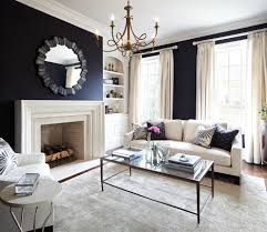 glamorous navy blue curtains mode toronto traditional living room