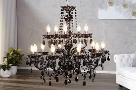 lustre design milazzo xl noir 15 lumieres