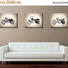 Weekend Sale Discount Set Of 3 Harley Davidson Photo Printboys Room Decor Kids