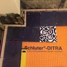 Schluter Ditra Tile Underlayment by Dreamy Floor Reveal Progress Report 4 Half Classic Six