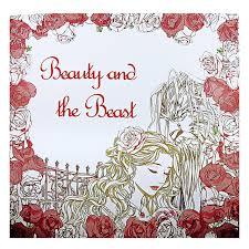 Beauty And The Beast Coloring Book For Adult Kids Antistress Art Books Mandala Secret Garden Quiet