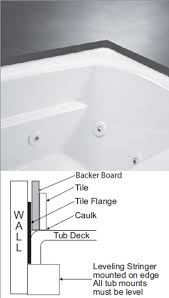Tiling A Bathtub Deck by Alcove Tub Bathtub With Skirt U0026 Flange For 3 Wall Alcove