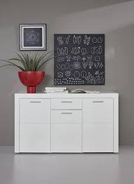 trendteam wohnzimmer sideboard kommode schrank kito 148 x 85 x 41 cm in korpus weiß front weiß glanz mit reichlich platz für dekoration