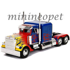100 Optimus Prime Truck Model JADA 30446 HOLLYWOOD RIDES TRANSFORMERS 124 DIECAST OPTIMUS PRIME