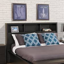 Wayfair White Queen Headboards by Prepac District Washed Black Double Queen Headboard Hhfq 0500 1