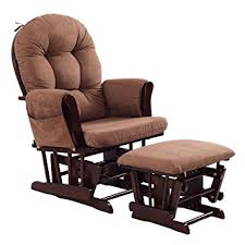 Amazon Costzon Baby Glider and Ottoman Cushion Set Brown Baby